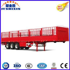 3 Axle Dropside Stake Semi Trailer for Heavy Duty pictures & photos