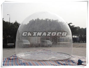 PVC Clear Inflatable Dome Tent Single Skin for Rental Business