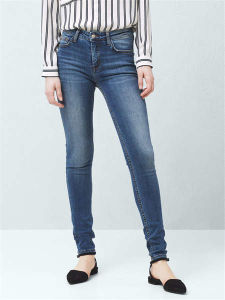 New Fashion High Waisted Slim Women′s Jeans pictures & photos