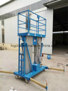 200kg Capacity 18m Aluminum Hydraulic Man Work Lift Platform pictures & photos