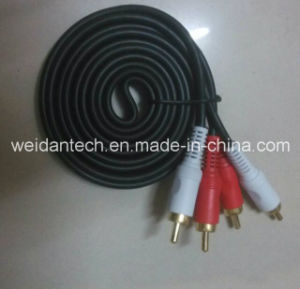 3.5st Male to 2RCA Audio Cable, 1.5meter Length pictures & photos
