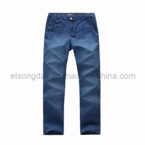 Blue Outwear Linen Cotton Men′s Trousers (APC-LUDO) pictures & photos