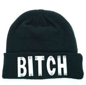 Winter Hat Fitted Beanie Hat Letter Embroidery Knitted Hat (XT-B028) pictures & photos