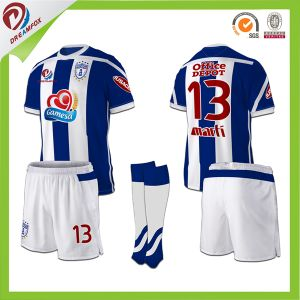Customized Kid Soccer Jersey Sublimated Cheap Football Shirt Thai Quality Soccer pictures & photos