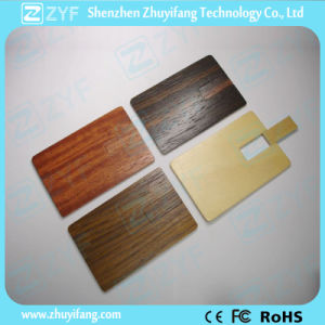 4 Colors Wood Card 8GB Flash Drive for Gift (ZYF1338)