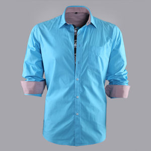 100% Cotton Poplin Plain Fabric Several Colors Men′s Solid Men′s Dress Men′s Shirt