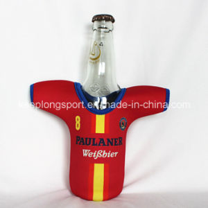 New Design Customized Neoprene Bottle Holder with The T-Shirt Shape