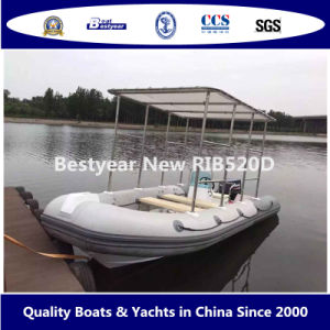 Bestyear Rigid Inflatable Boat of Rib520d pictures & photos