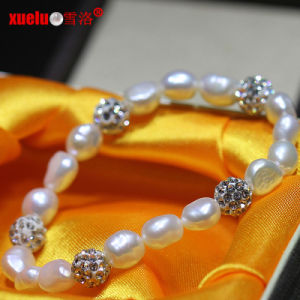 Charms Fashion Nature Freshwater Baroque Pearls Bracelet Jewelry (E150054) pictures & photos