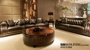 Top Grain Leather for Living Room, Villa Luxury Sofa Set pictures & photos