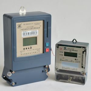 OEM Offered Single Phase Electric Prepayment Meter with IC/RF Card pictures & photos