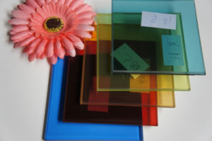DuPont PVB Film Tinted Float Laminated Glass with ISO9001-2008