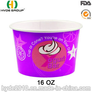 Printed Disposable Paper Ice Cream Cup (16 oz-5) pictures & photos