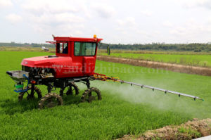 Aidi Brand 4WD Hst Hot Sale Self-Propelled Boom Sprayer for Paddy Field pictures & photos