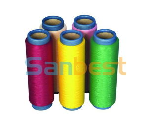 100% Colorful Continuous Polyester Textured Thread for Swimwear pictures & photos