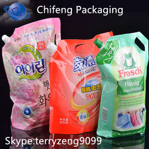 Plastic Packaging Bags for Washing Liquid pictures & photos