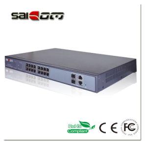 1000Mbps 25.5V/15.4V 4SFP Slots PoE Switch 24 Port pictures & photos