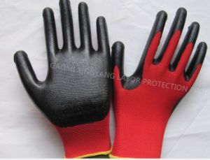 Natrile Coated Glove Labor Protective Safety Work Gloves (N7003) pictures & photos