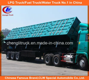 Heavy Duty Tri-Axle 50ton Side Tipper Truck Trailer for Mineral Transportation pictures & photos