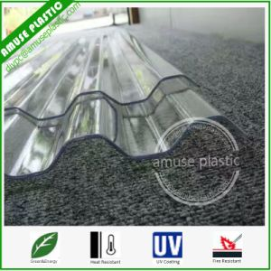 Customed Strong PC Plastic Corrugated Heat Resistant Polycarbonate Roofing Sheet pictures & photos