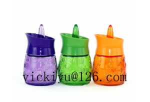 100ml~200mllight Bulb Glass Bottle Glass Drink Bottle with Lid with LED pictures & photos