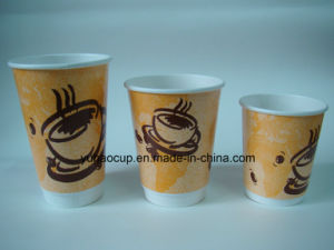 Disposable Drinking PE Coated Double Wall Paper Cup (YHC-127) pictures & photos