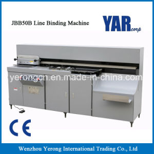 Big Promotion Jbb50b Line Book Binding Machine with Manual Cover pictures & photos