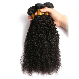 8A Mongolian Afro Kinky Curly Virgin Hair Human Hair Extension pictures & photos