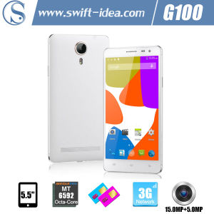 New! High Configuration 5.5 Inch HD IPS Mtk6592 Octa Core 2GB+16GB 15.0MP Camera Android Smart Phone (G100)