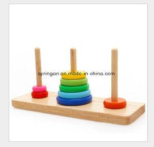 Educational Hanoi Rainbow Wooden Toys pictures & photos