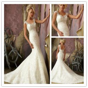 Lace Mermaid Heavy Beaded Wedding Dress (XYN--220)