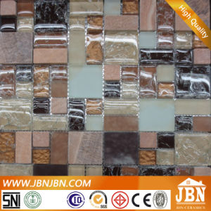Antique Style Ice Crack Glass and Stone Marble Mosaic (M855120) pictures & photos
