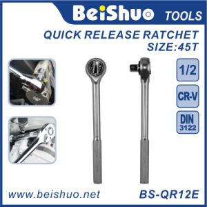 Cheapest CRV Handle Quick Release Ratchet of Socket Wrench pictures & photos