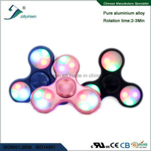 Tri Leaves of Alloy Hand Spinner Fidget Spinner Finger Spinner with Colorful LED Lights pictures & photos