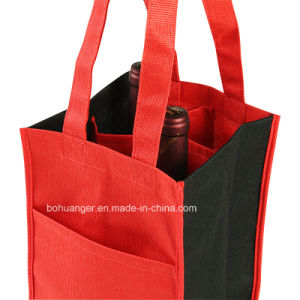 Rusable RPET Fashion Carry Promotional Hand Shopping Bag for Wine
