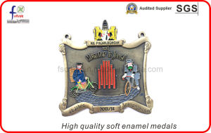 High Quality Soft Enamel Sliver Pated Medals pictures & photos