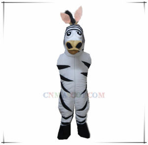 Great Craft Zebra Mascot with Four Legs