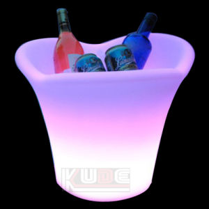 Wine Cooler and Champagne Ice Bucket with Cordless LED Lighting pictures & photos