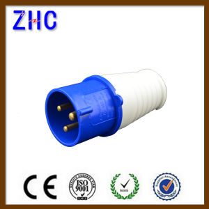 Azul 16A 220V 2p+T Industrial Enchufe Macho Plug pictures & photos