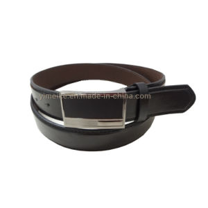2016 New Design Casual Belt Black Square Alloy Buckle Leather Belt China Factory Wholesale pictures & photos