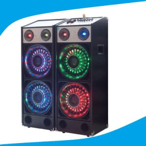 Double 10 Inch Fashional 2.0 Speaker with Colorful Light T239-16 pictures & photos