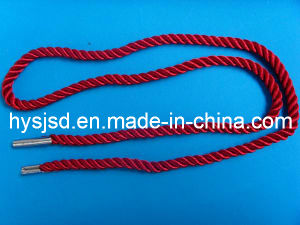3 Strand PP Paper Bag Handle Ropes with Metal End pictures & photos