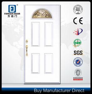 Modern Wood Door Look Hand Craft Fiberglass Door pictures & photos