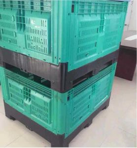 1200*1000*760mm Collapsible Storage Bin Industry Wheel Bin Plastic Box Pallet pictures & photos