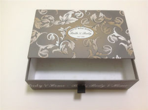 Drawer Box with Ribbon Handle / Paper Drawer Box with Handle pictures & photos