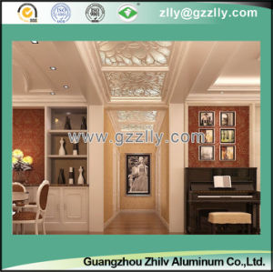 Elegant with Metal Texture Frosted Ceiling for Interior and Outdoor Decoration Silver Lines in Four Sides pictures & photos