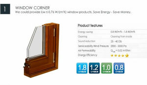 China Made Double Glazed Oak Wood French Casement Window pictures & photos