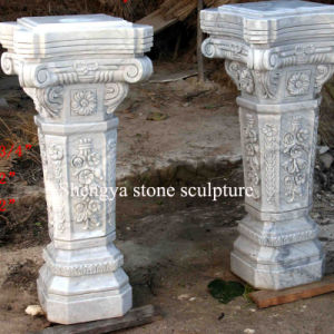 White Marble Stone Sculpture Pillar (SY-C010) pictures & photos