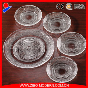 Wholesale Cheap Clear Glass Fruit Dinner Plate pictures & photos