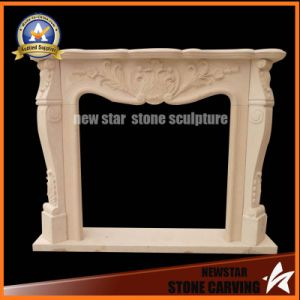 Limestone Fireplace Mantel Marble Granite Fireplace Surround pictures & photos